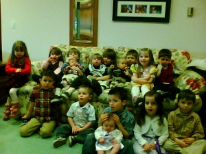 Here's a pic of all the grandkids
